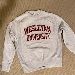 Wesleyan university sweatshirt